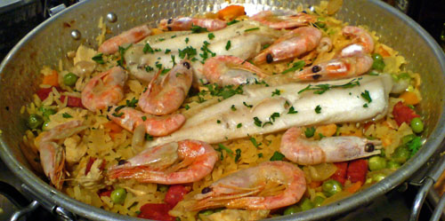 Easy Paella , Marcus Leadley : Recipes